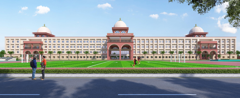 School Front Building