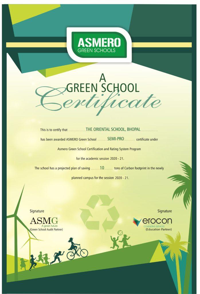 ASMERO School Certificate