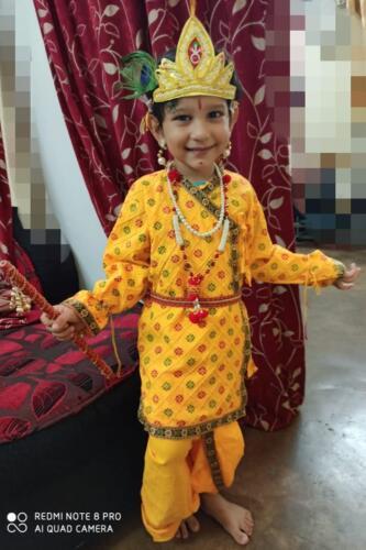 Hrishaan as Krishna