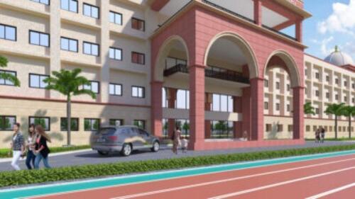 School Entrance - 3D View
