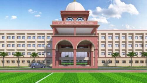 School Building- 3D Close Front View