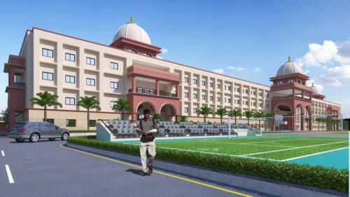 School Building - 3D View